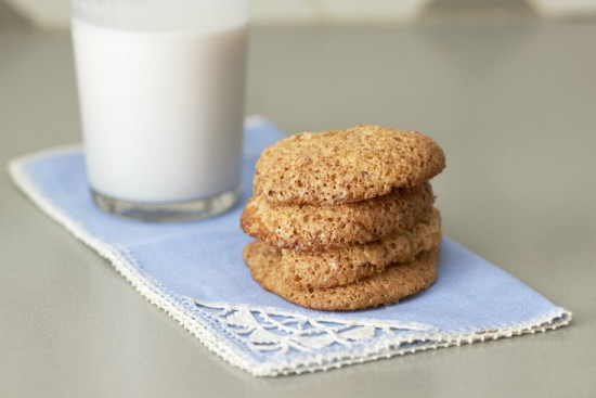 Almond Orange Cookies and Milk_2