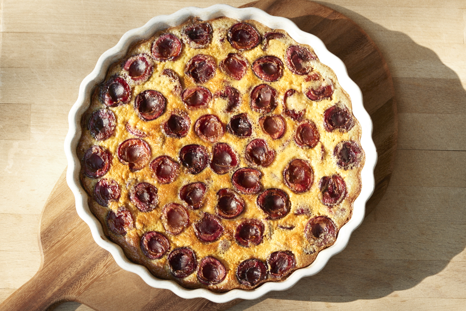 Cherry and Almond Clafoutis – P FOR PECKISH